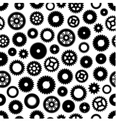 gear or cog wheels seamless pattern background vector image