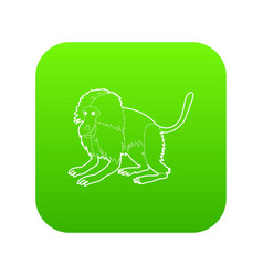 gelada monkey icon green vector image