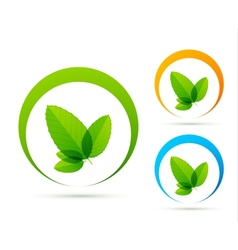 Green concept icons vector