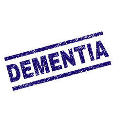 grunge textured dementia stamp seal vector image