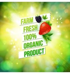 Guaranteed Farm Fresh Organic Product vector image