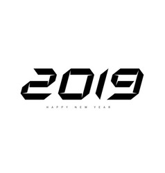 happy new year 2019 minimalistic for cover vector image
