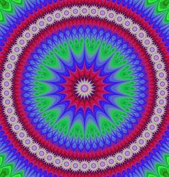 Happy star mandala fractal design background vector