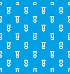 Hockey medal pattern seamless blue vector