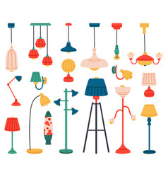 home light interior lamps ceiling lamps pendant vector image