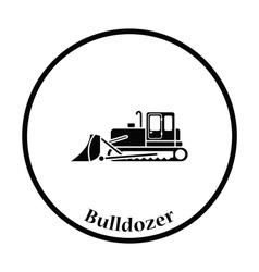 Icon of Construction bulldozer vector