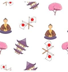 Japan pattern cartoon style vector image