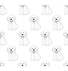 labrador golden retriever dog seamless on white vector image