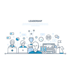 Leadership development management career growth vector