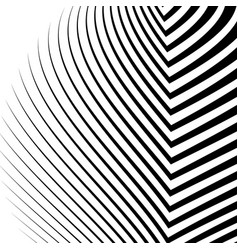 Lines with distortion edgy wavy lines monochrome vector