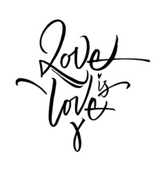 love is love lettering vector image
