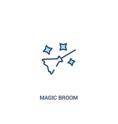 Magic broom concept 2 colored icon simple line vector
