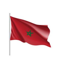 Marocco realistic flag vector