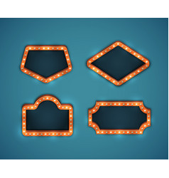 Marquee signs set vector
