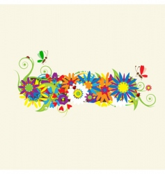 Minus sign floral design vector