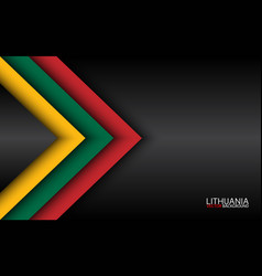 Modern overlayed arrows with lithuanian colors vector