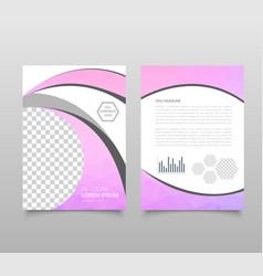 Modern triangle presentation template business vector