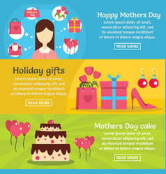 mothers day banner horizontal set flat style vector image