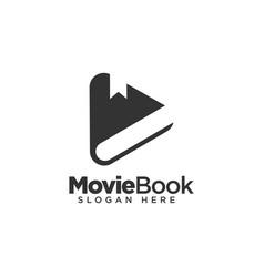 Movie book logo design template vector