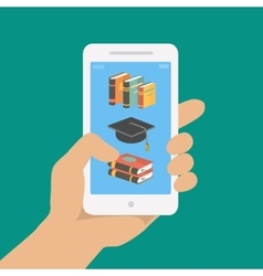online education concept in flat style vector image