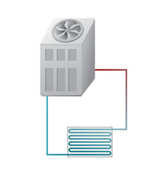Outdoor and indoor unit chiller hvac vector