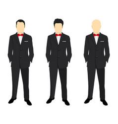 portrait of a successful businessman vector image