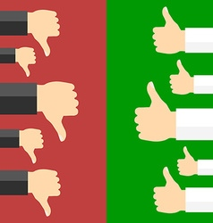 Positive and negative feedback concept vector