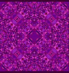 purple abstract seamless triangle mosaic vector image