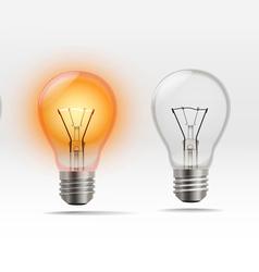 Realistic Light Bulb vector
