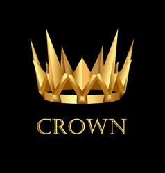 Royal gold corona on black background vector
