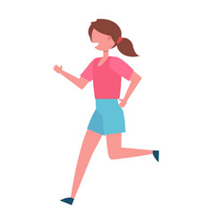 running girl color icon female vector image