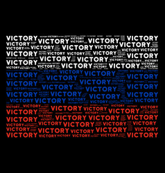 Russia flag mosaic of victory text items vector