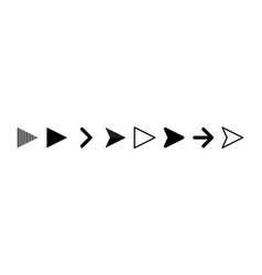 set black arrows arrows icon arrow vector image