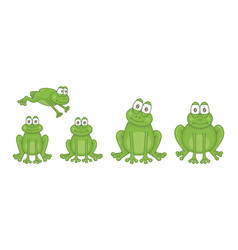 set frogs vector image