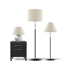 Set lamps vector