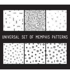 set universal fashion geometric seamless vector image