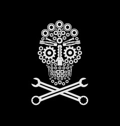 Skull automotive vector