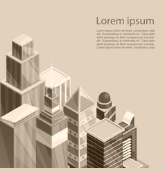 skyscrapers city poster of vector image