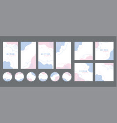 social media stories posts highlights templates vector image