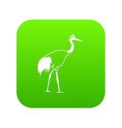 stork icon digital green vector image