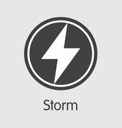 Storm - storm the logo virtual momey or market vector