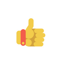 Thumbs up hand icon vector