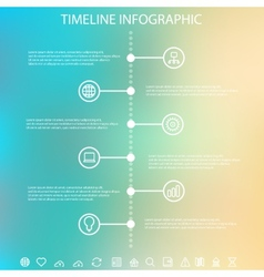 Timeline infographic with unfocused background vector image