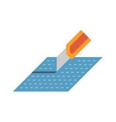 Vinyl floor icon vector