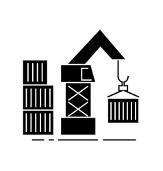 warehouse crane cargo icon vector image