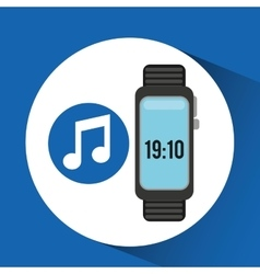 Wearable technology music design vector