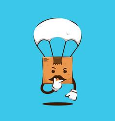 Webthinking pose parcel package box papa vector