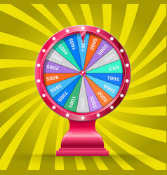 Wheel fortune isolated vector