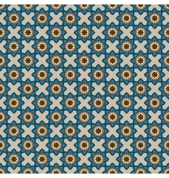 Abstract pattern with blue flowers vector image
