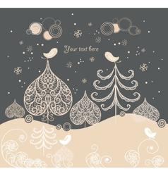 Cartoon Christmas background vector image